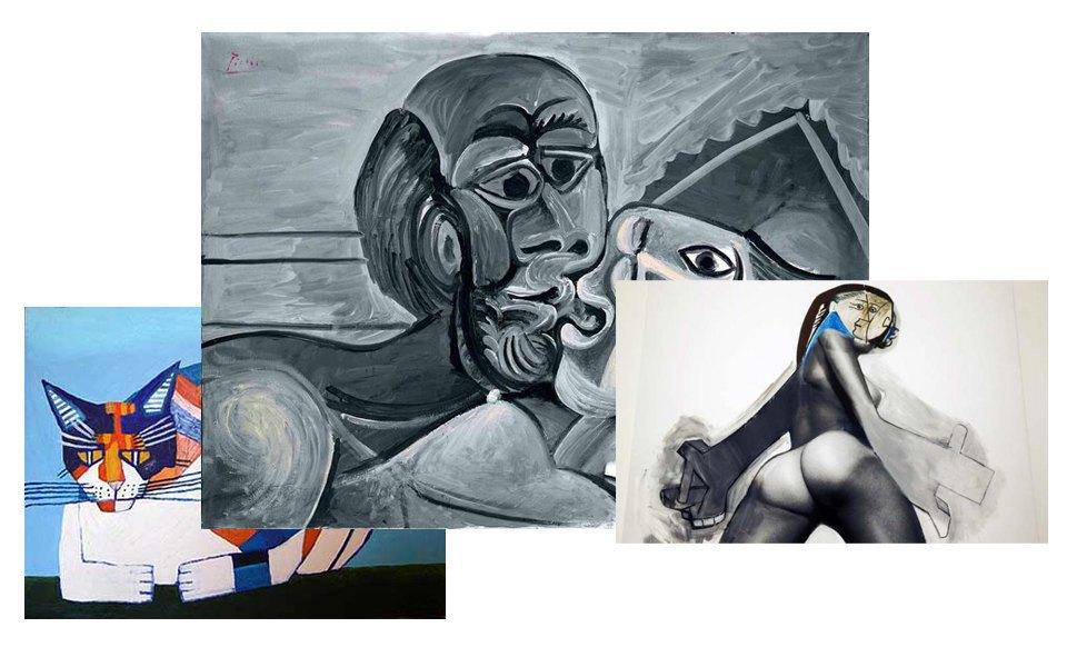 Выставка Picasso Black and White, шоу Prince/Picasso, Кубизм. Изображение № 8.