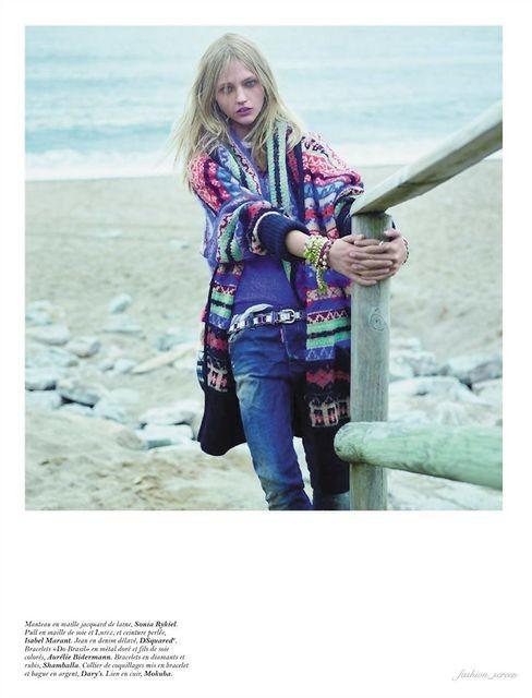 Съёмка: Саша Пивоварова и Наташа Поли для французского Vogue. Изображение № 9.