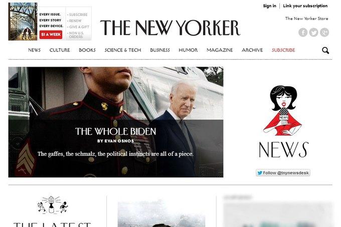Новая версия сайта The New Yorker. Изображение № 2.