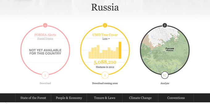 Появилась интерактивная карта мировых лесов. Изображение № 5.