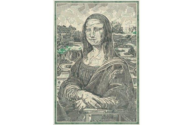 Художник создаёт коллажи из долларов. Изображение № 9.