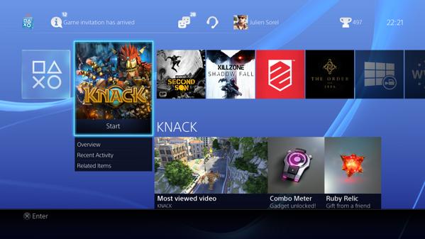 Выложены изображения и видео интерфейса PS4. Изображение № 3.