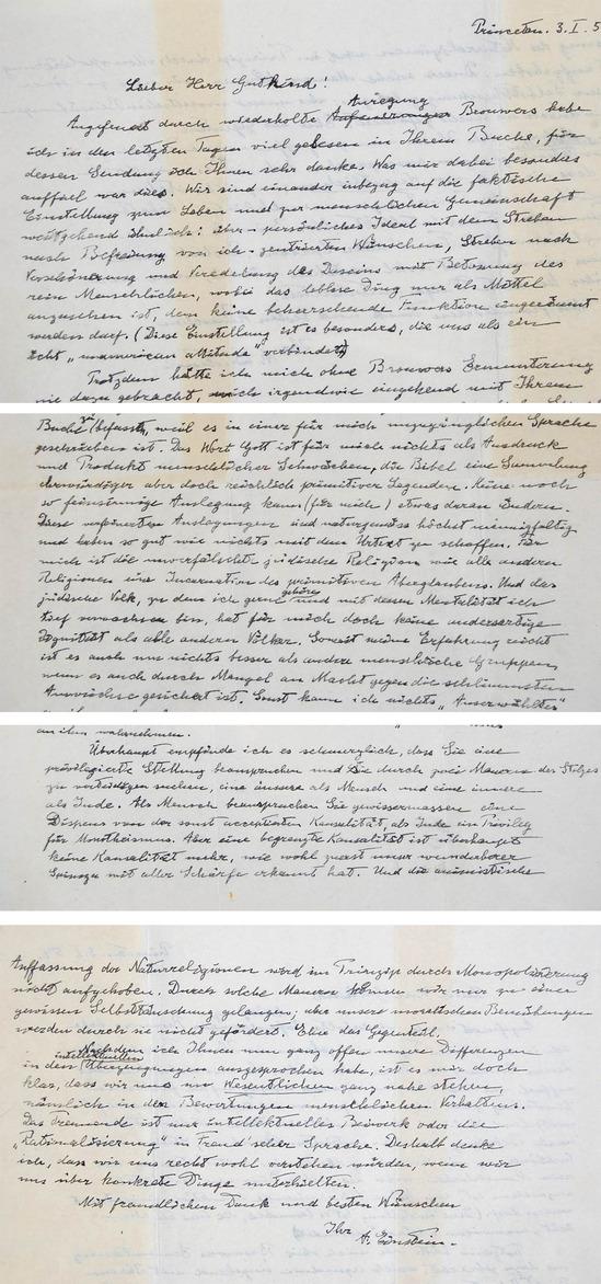 Рукописное письмо Эйнштейна продадут с аукциона. Изображение № 2.