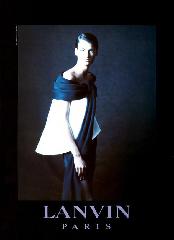 Архивная съёмка: Линда Евангелиста для Lanvin, 1990. Изображение № 5.