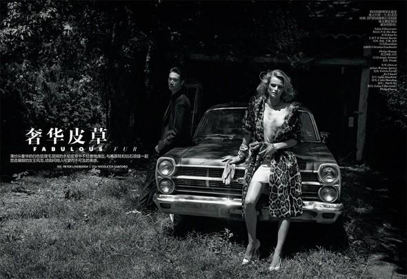 Съёмка: Эдита Вилкевичюте в объективе Питера Линдберга. Изображение № 1.