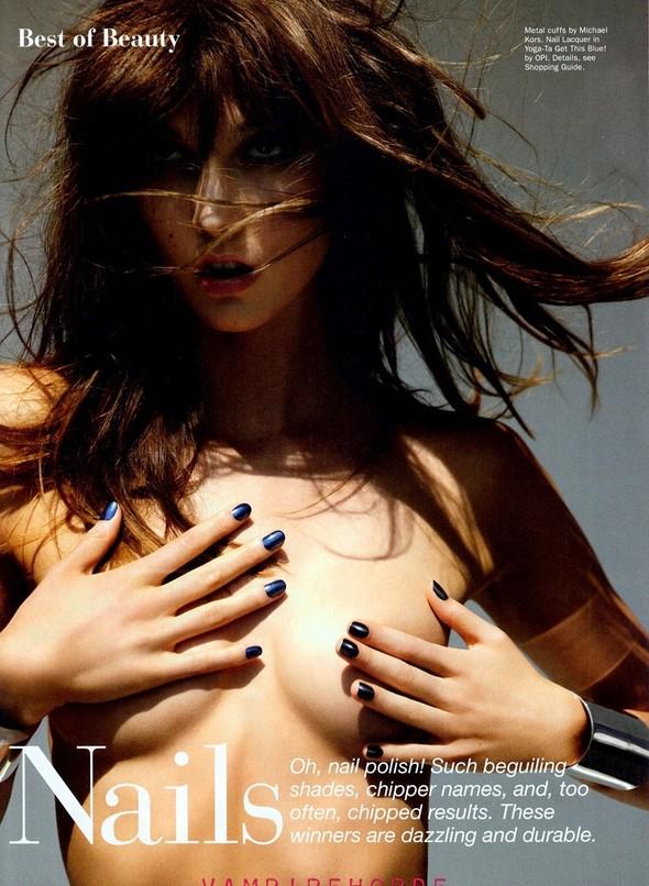Съёмка: Карли Клосс для Allure. Изображение № 5.