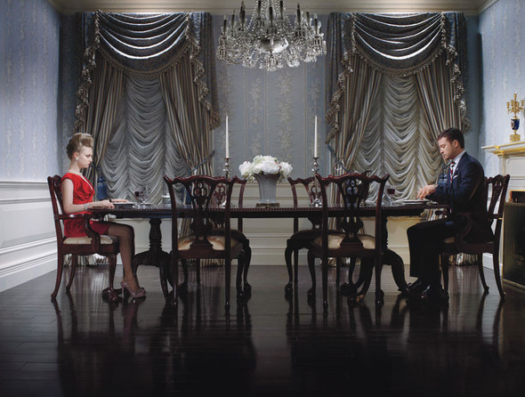 Съёмка: Аманда Сейфрид и Джастин Тимберлейк для W. Изображение № 7.