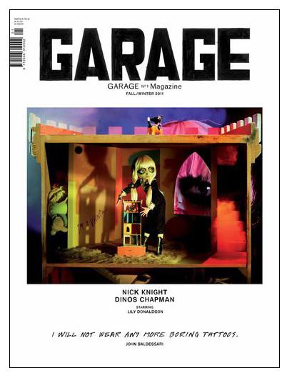 Первая обложка дебютного номера Garage. Изображение № 1.