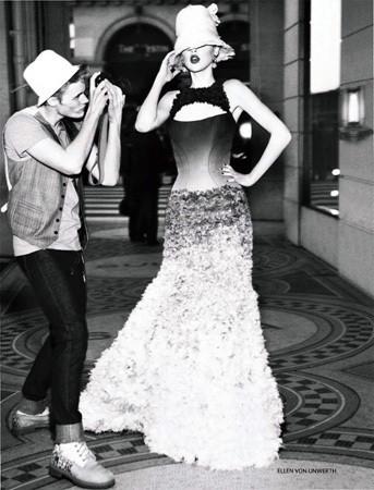 Анаис Пульо в российском Vogue, апрель 2011. Изображение № 23.