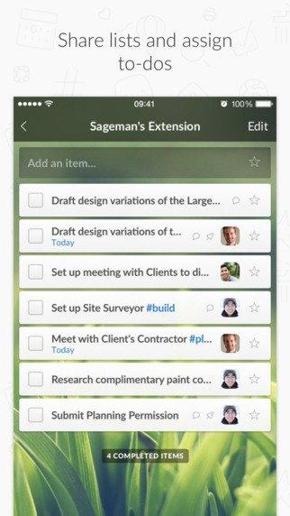Редизайн дня: новый Wunderlist для iPhone и Android. Изображение № 12.