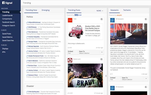 Facebook запустила инструмент для поиска новостей по соцсетям. Изображение № 1.