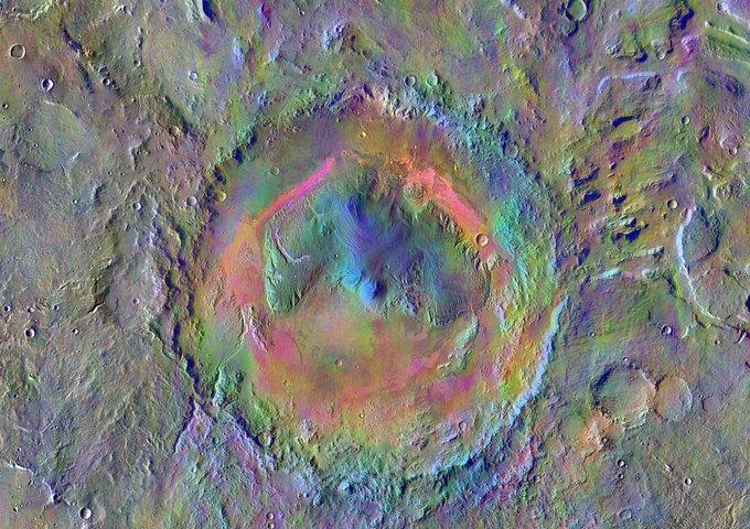 NASA ищет место для высадки на Марсе . Изображение № 1.