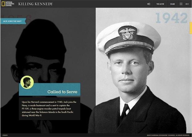 Интерактивный сайт показал историю жизни Джона Кеннеди. Изображение № 1.