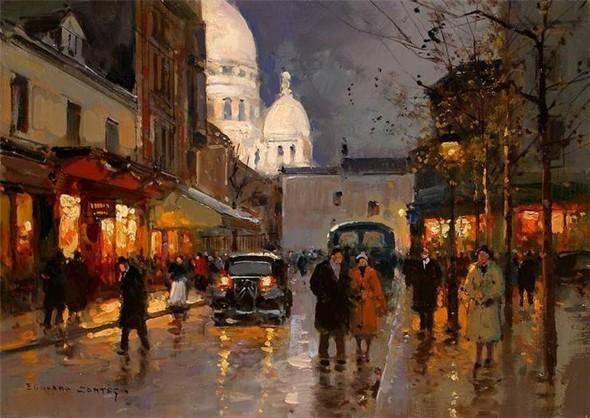 Эдуард Леон Кортес. Перенесёмся в Париж. Изображение № 13.