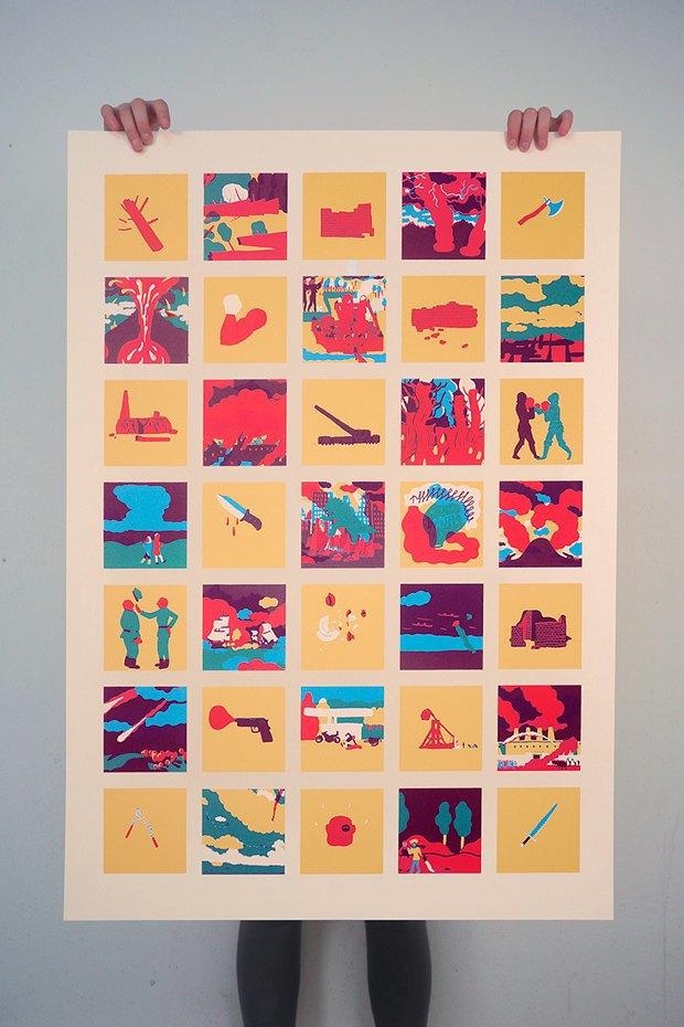 50 постеров, которые вдохновляют заняться шелкографией. Изображение № 47.