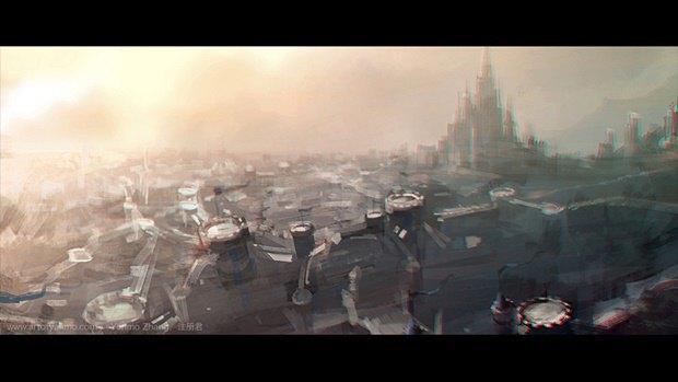 Китайский художник перерисовал кадры из трейлера «Варкрафта». Изображение № 2.