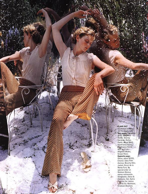 Архивная съёмка: Тим Уокер для Harper's Bazaar, 2000. Изображение № 8.