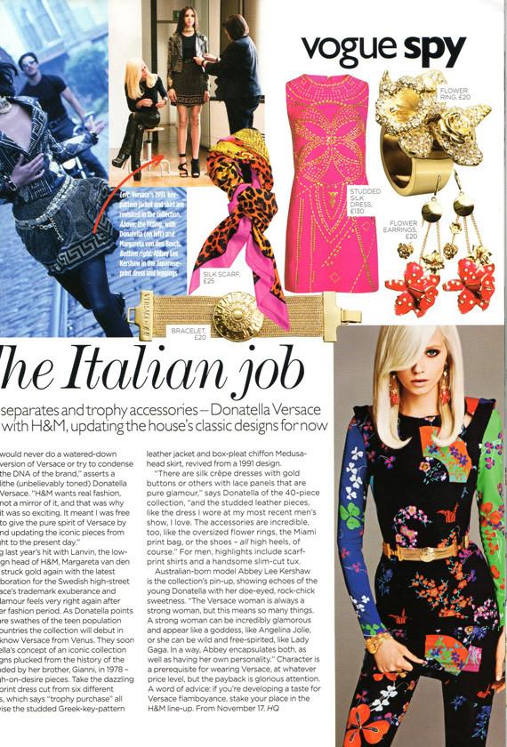 Донателла Версаче для H&M на страницах русского Vogue. Изображение № 1.