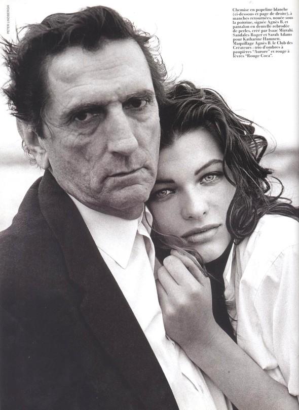 Архивная съёмка: Мила Йовович для Vogue, 1990. Изображение № 2.