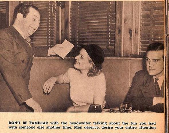 Как завоевать мужчину, вырезки из журнала 1938 года. Изображение № 9.