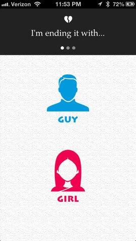 Вышло мобильное приложение для расставаний. Изображение № 3.
