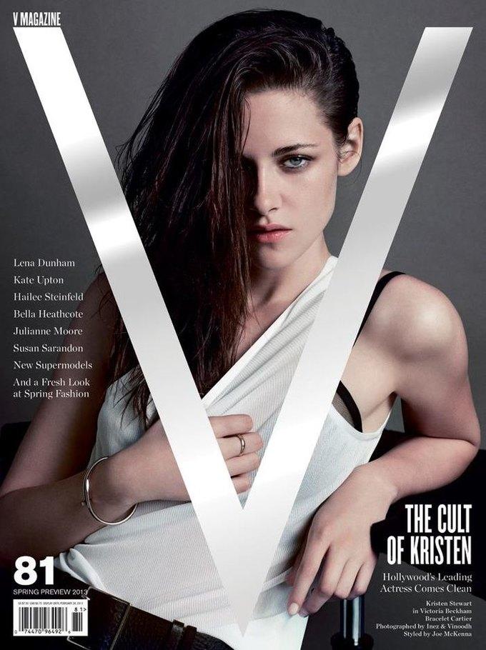 Вышли обложки свежих номеров Vogue, V и Glass. Изображение № 1.
