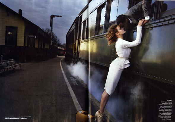 Водянова и Пи Дидди: Любовь в поезде. Изображение № 4.