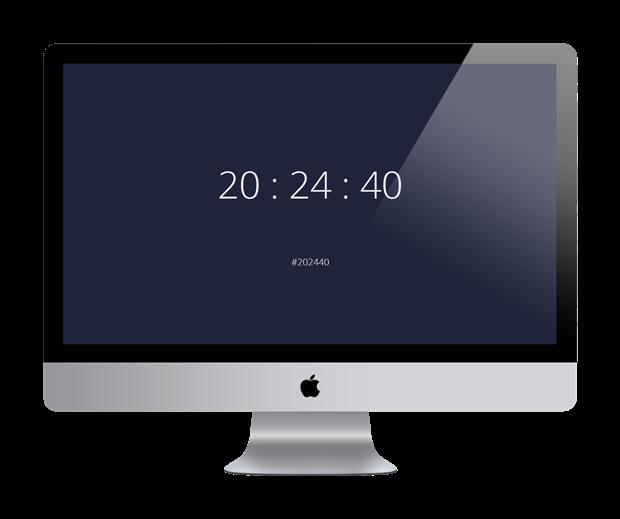Сайт: часы, которые показывают цвет. Изображение № 1.