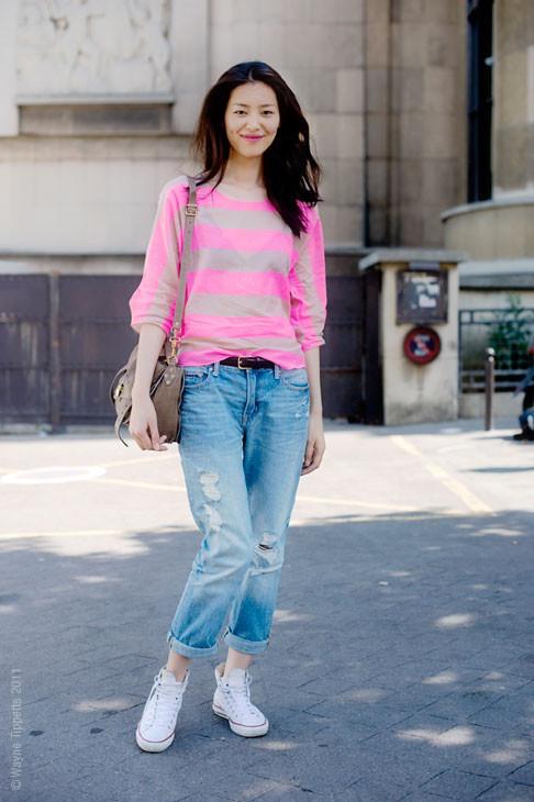 Уличный стиль на Неделе высокой моды в Париже. Изображение № 134.