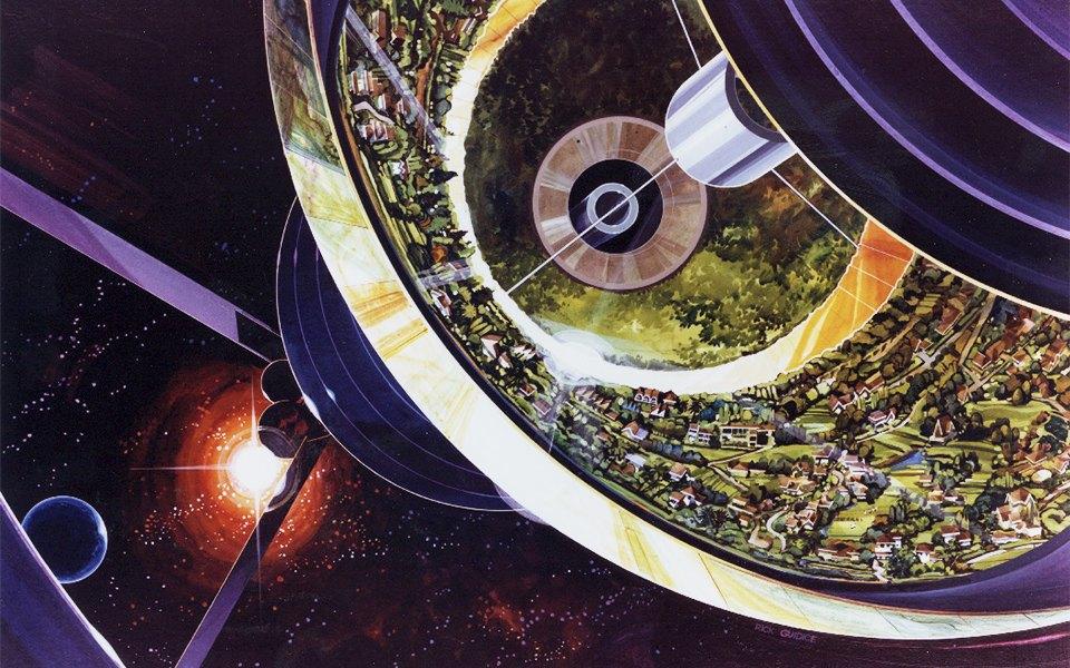 Рай не на земле: Какими в NASA представляли космические колонии будущего. Изображение № 3.