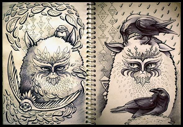 Рисунки в блокнотах. Изображение №1.