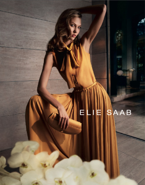 Кампания: Карли Клосс для Elie Saab SS 2012. Изображение № 2.