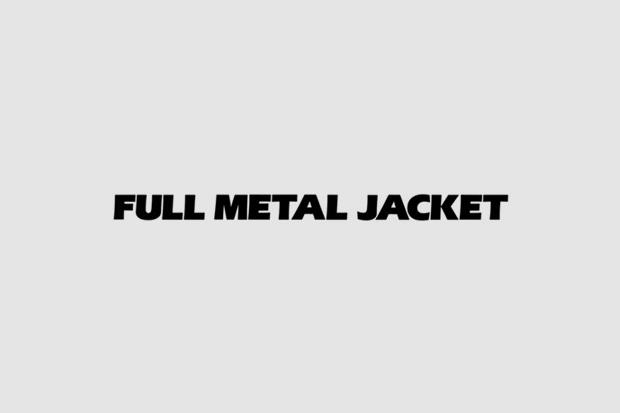 Логотип из титров или трейлера фильма «Цельнометаллическая оболочка». Использованы Eras, Univers, рукописный. Изображение № 32.