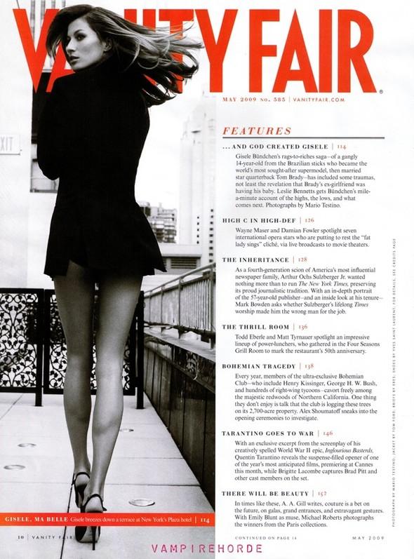 Жизель Бюндхен вмайском Vanity Fair. Изображение № 2.