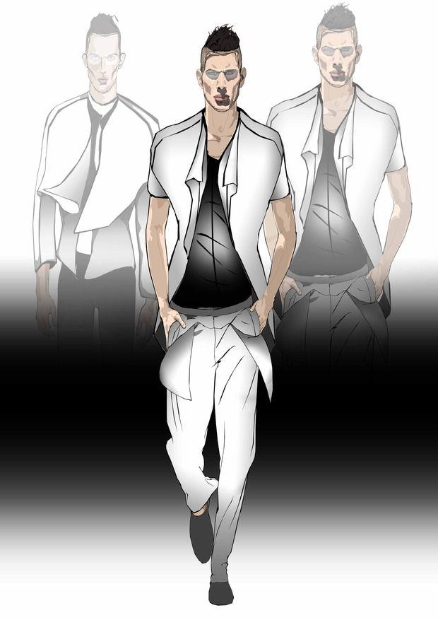 Men fashion sketches. Изображение № 5.