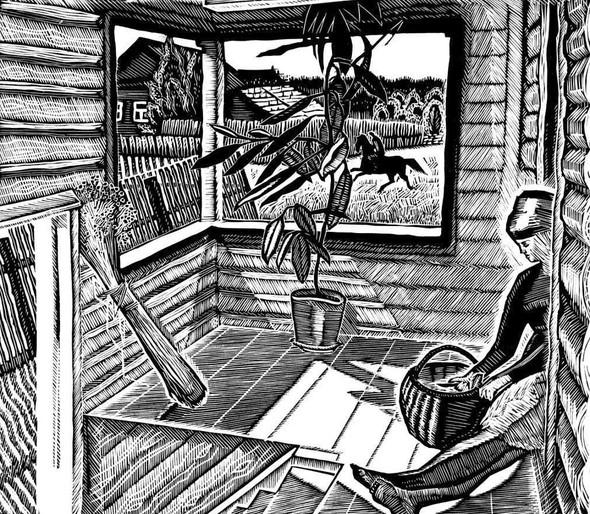 """Г. Ф. Захаров. """"Пейзаж со всадником"""". Изображение № 20."""
