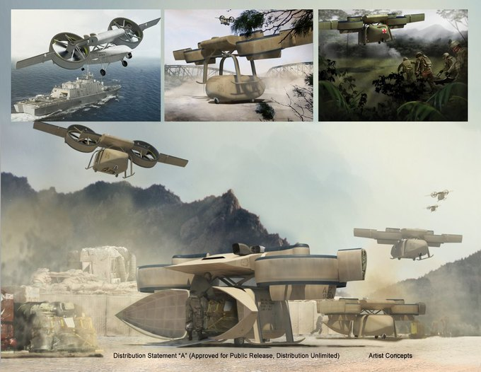 DARPA разрабатывает военные дроны-трансформеры. Изображение № 1.
