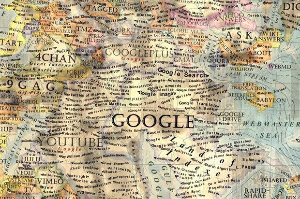 Дизайнер создал детализированную карту интернета. Изображение № 2.