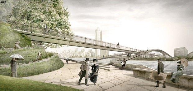Выложены 74 проекта нового моста через Темзу. Изображение № 70.