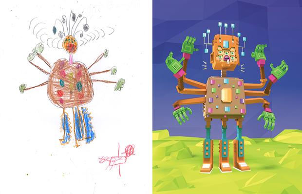 Художники создали монстров наоснове детских рисунков. Изображение № 24.
