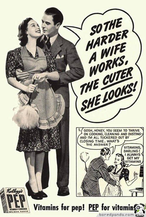 the oppression of women in advertising Generally it is shown in advertisement a woman's goal in life is to attract and attain a man:-women are shown in advertising as always young and attractive they are frequently depicted as sexual objects women in advertisements are restricted to the home and isolated from other women outside home, man is her favorite companion.