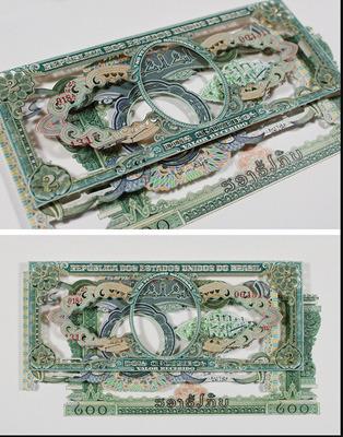 Картины и коллажи из денег Родриго Торреса. Изображение № 2.