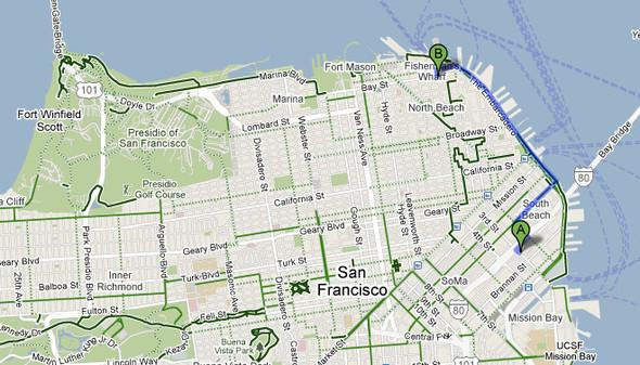 Велосезон 2010: Google анонсирует веломаршруты. Изображение № 1.