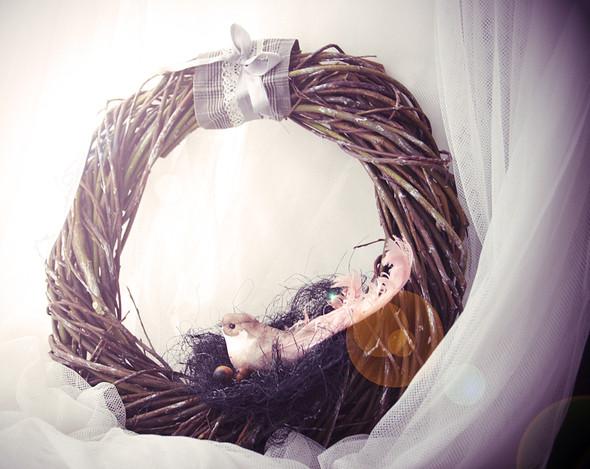 Рождественский венок из ивовых прутьев. Изображение № 4.