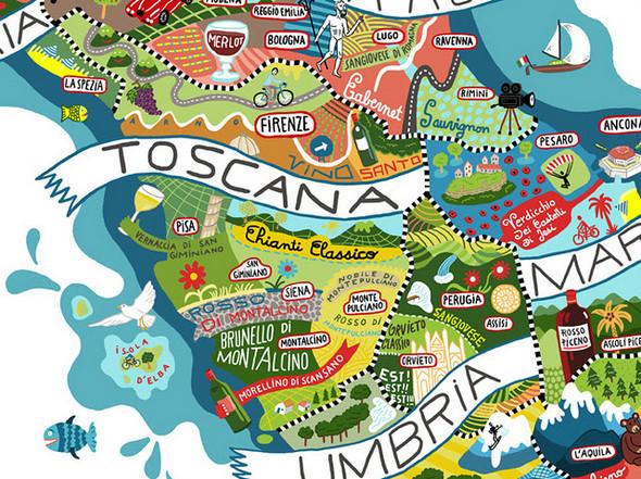 Винная карта Италии от Antoine Corbineau. Изображение № 5.