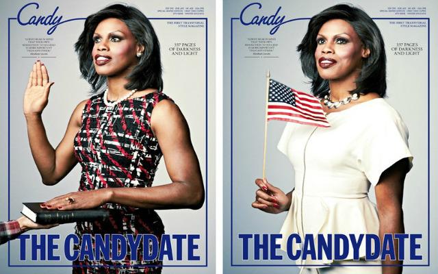 Трансвестит переоделся в Мишель Обаму для обложки Candy. Изображение № 1.