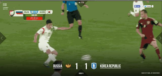 Игрок корейской сборной Ли Кын Хо забывает гол в ворота российской команды. Изображение № 2.