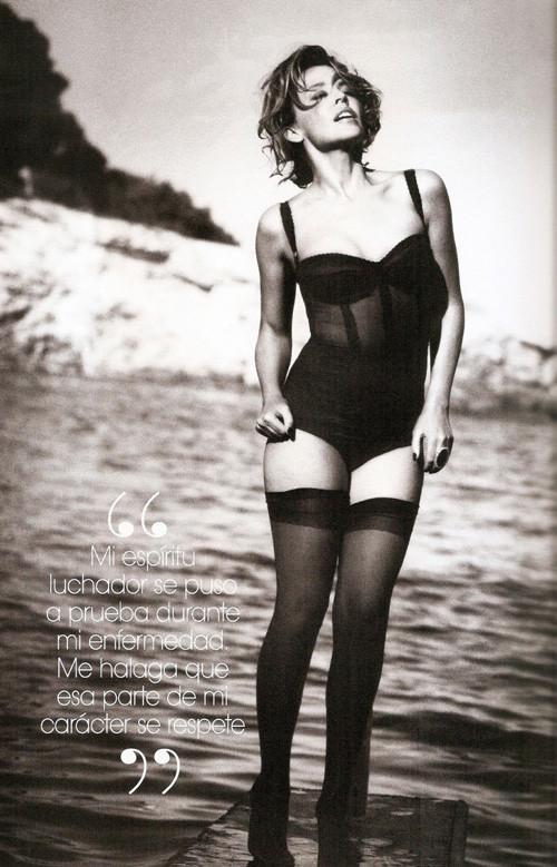 Кайли Миноуг снялась в фотосессии для испанского Vogue. Изображение № 5.