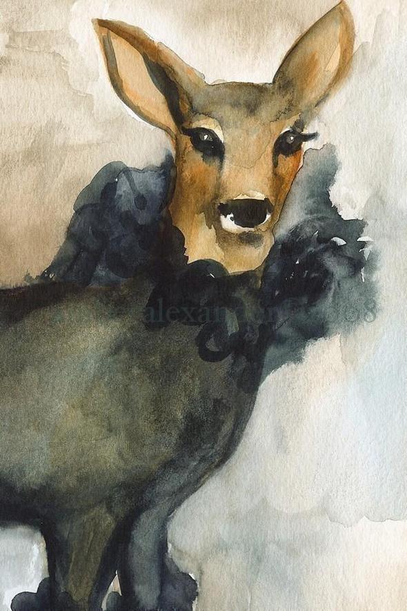 Изображение 43. Amber Alexander - животные, сияющие акварелью.. Изображение № 41.