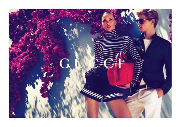 Karmen Pedaru и Lenz von Johnston для рекламы Gucci Cruise 2012. Изображение № 2.